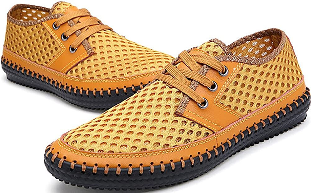 Odema Mens Mesh Slip-On Loafers Mocassins Casual Walking Shoes