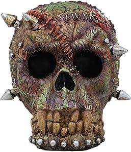 Ebros Day of The Dead Zombie Vampire Frankenstein Skull with Open Brains Figurine 6