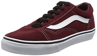 Vans Old Skool Suede Port Royal Burgundy Kids Youth Shoes (1.0) 1b0f90c2b