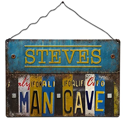 Man Cave Shed Sign Personalised   Office Sign   Fathers Day Gift   Vintage  Retro Style