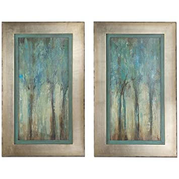Amazon.com: Uttermost 41410 Whispering Wind Framed Art (Set of 2 ...