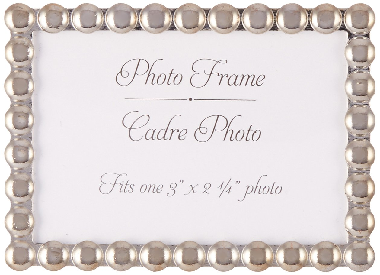 Amazon.com: Kate Aspen Silver Pearls, Mini Photo Frame: Home & Kitchen