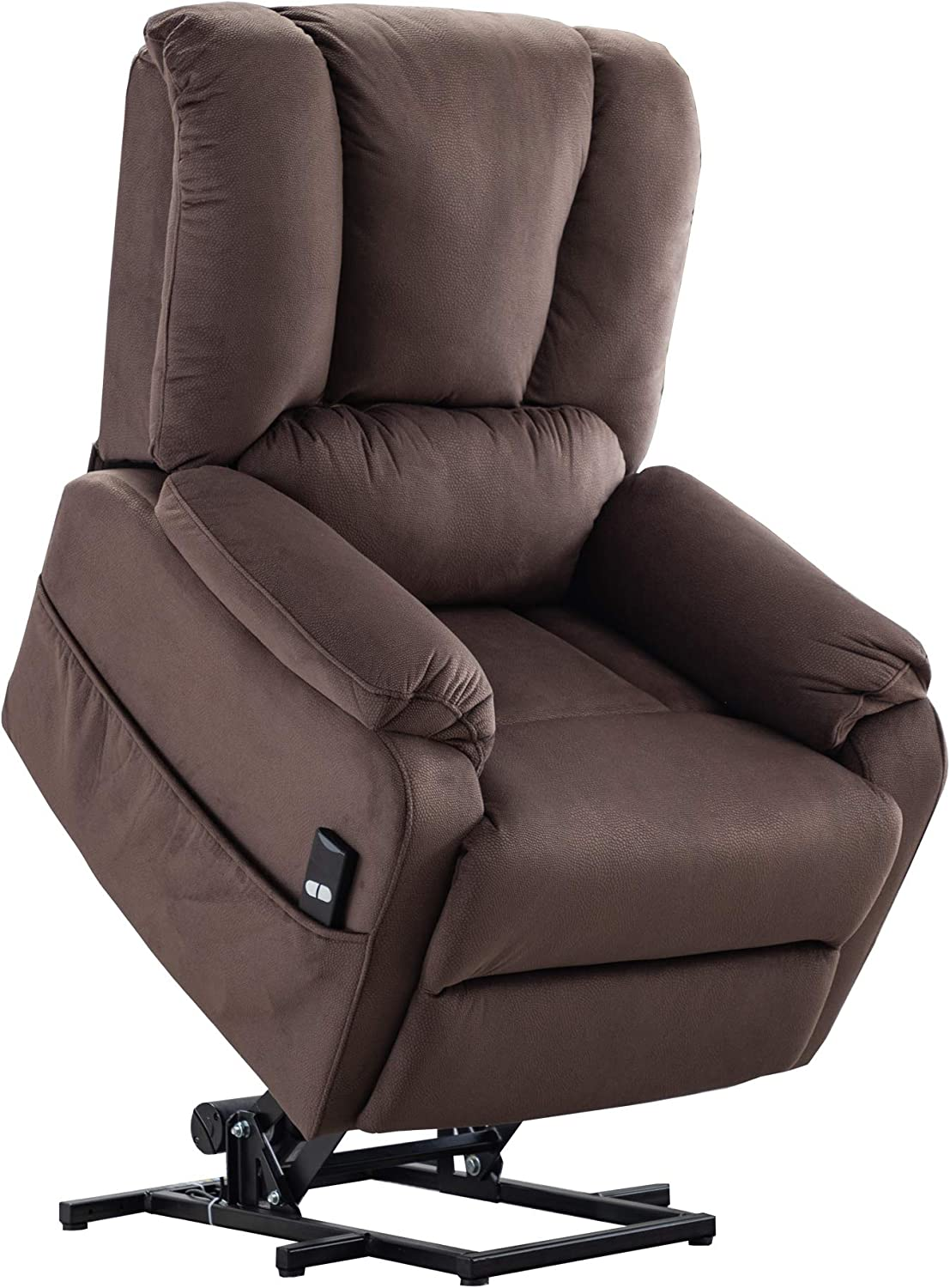 Merax Power Lift Recliner Chair Lazy Sofa for Elderly, Heavy-Duty Fuction with Remote Control, Office or Living Room, Chocolate