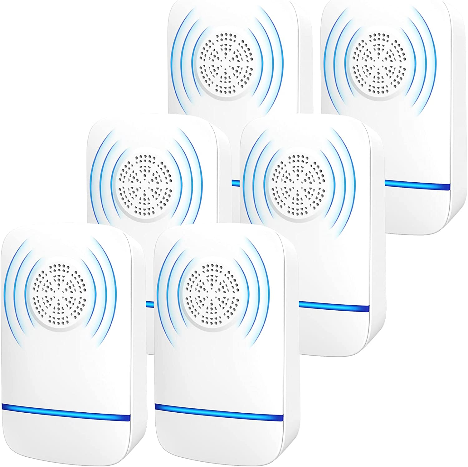 Ultrasonic Pest Repeller, 【6 Pack】 Electronic Mouse Repellent, Home Defense Pest Control Plug in Indoor house, Roach killer for Rodents Mice Mosquito Roach Spider Ants Termites Bee Moths Stink Bug