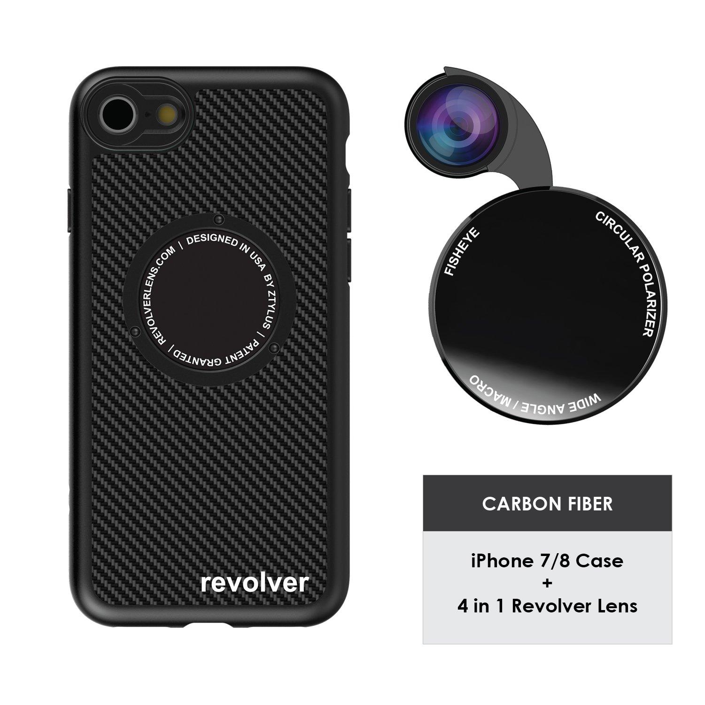 Funda y 4  Lentes Ztylus Revolver p/ iPhone 7/8 - Carbon ...