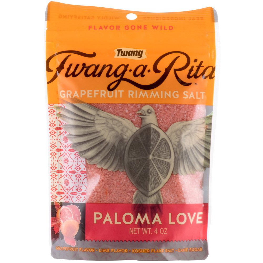 Twang Paloma Love Grapefruit Rimming Salt - 4 oz. Pack of 10 by TableTop King