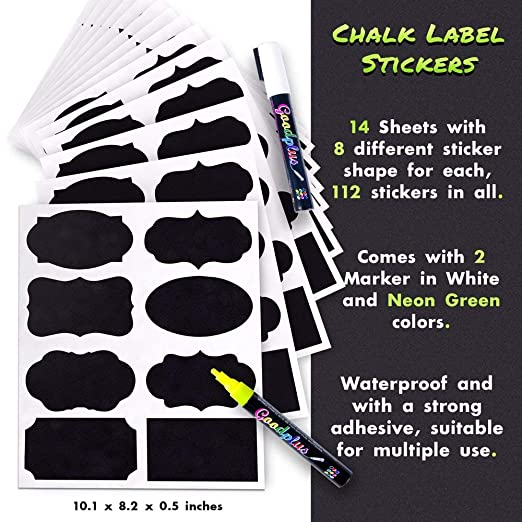 Review Chalkboard Labels: 112-pcs Assorted