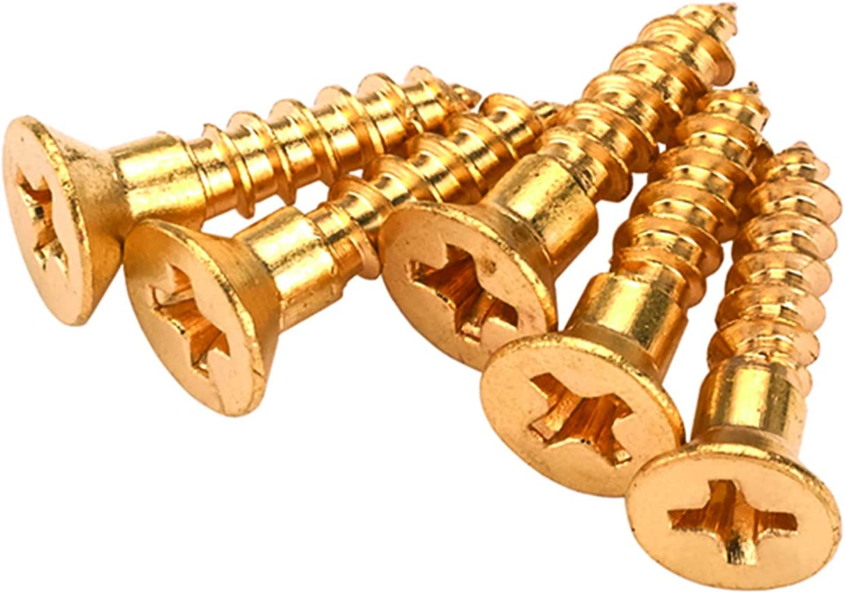 Phillips Highpoint Solid Brass Screws #2 x 1//2 25 Pieces