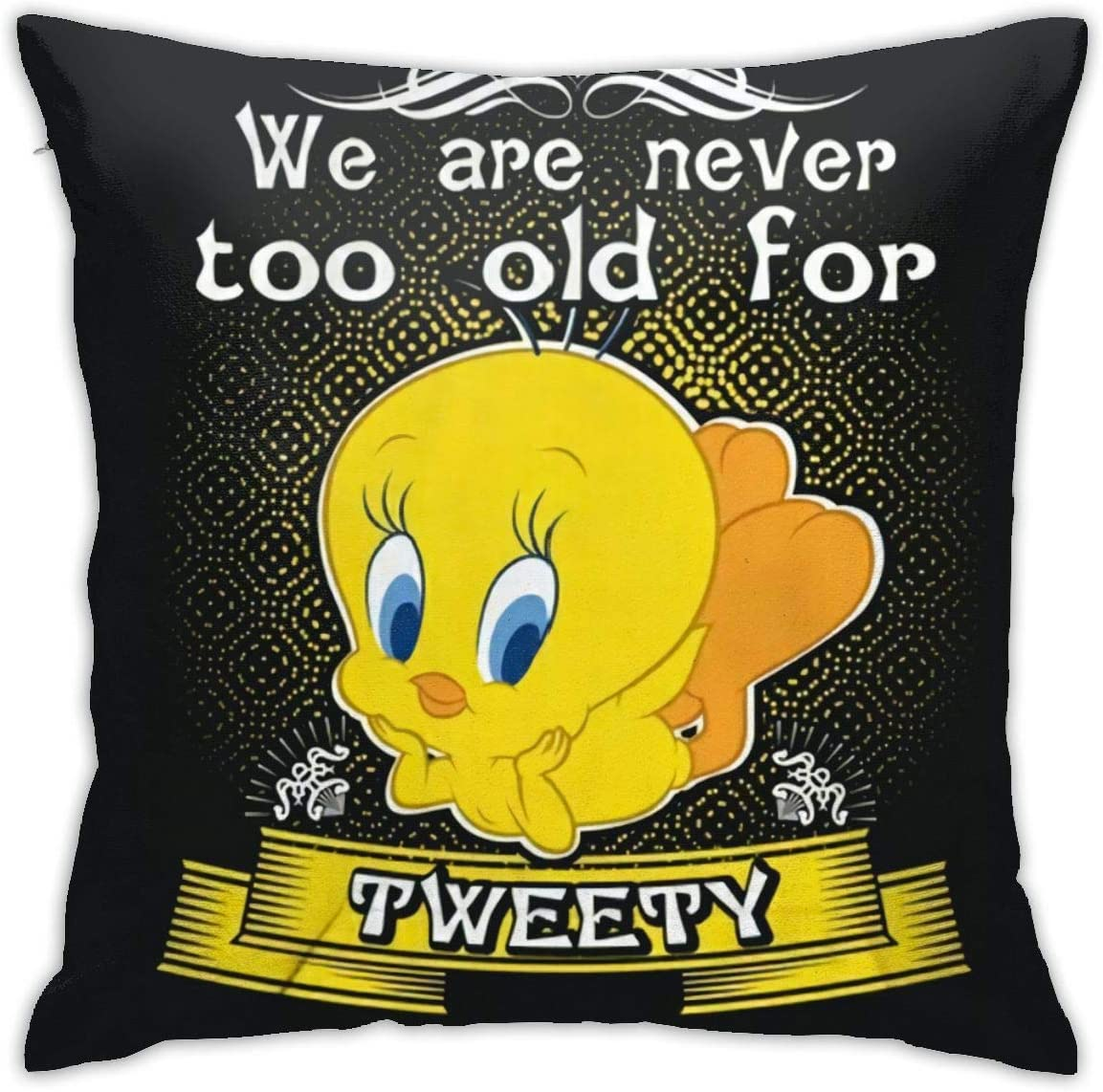 Looney Tunes Tweety Decorative Reading Pillow Covers Case Pillowcases 18x18 in