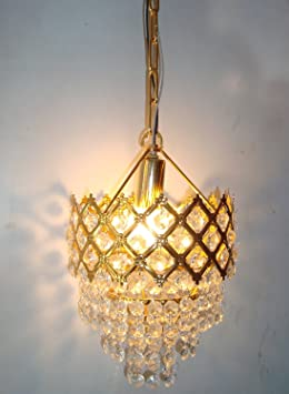 Prop It Up Golden Crystal Designer Small Chandelier For Home Dã©Cor Chandeliers at amazon