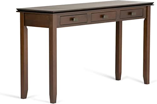 Simpli Home AXCHOL014 Artisan Solid Wood 54 inch Wide Contemporary Wide Console Table in Medium Auburn Brown