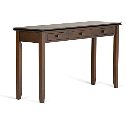 Charmant Simpli Home Artisan Solid Wood Wide Console Table, Medium Auburn Brown
