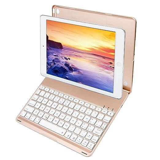 iEGrow Tastatur Kompatibel mit Neues iPad 2018 9.7, Neues F8S Tastatur für Neues iPad 9.7 Zoll 2018 2017 und iPad Air [QWERTZ deutsches