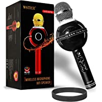 DMG Bluetooth Karaoke Microphone for Singing, Wireless Professional Handheld Portable Speaker with Party Lights