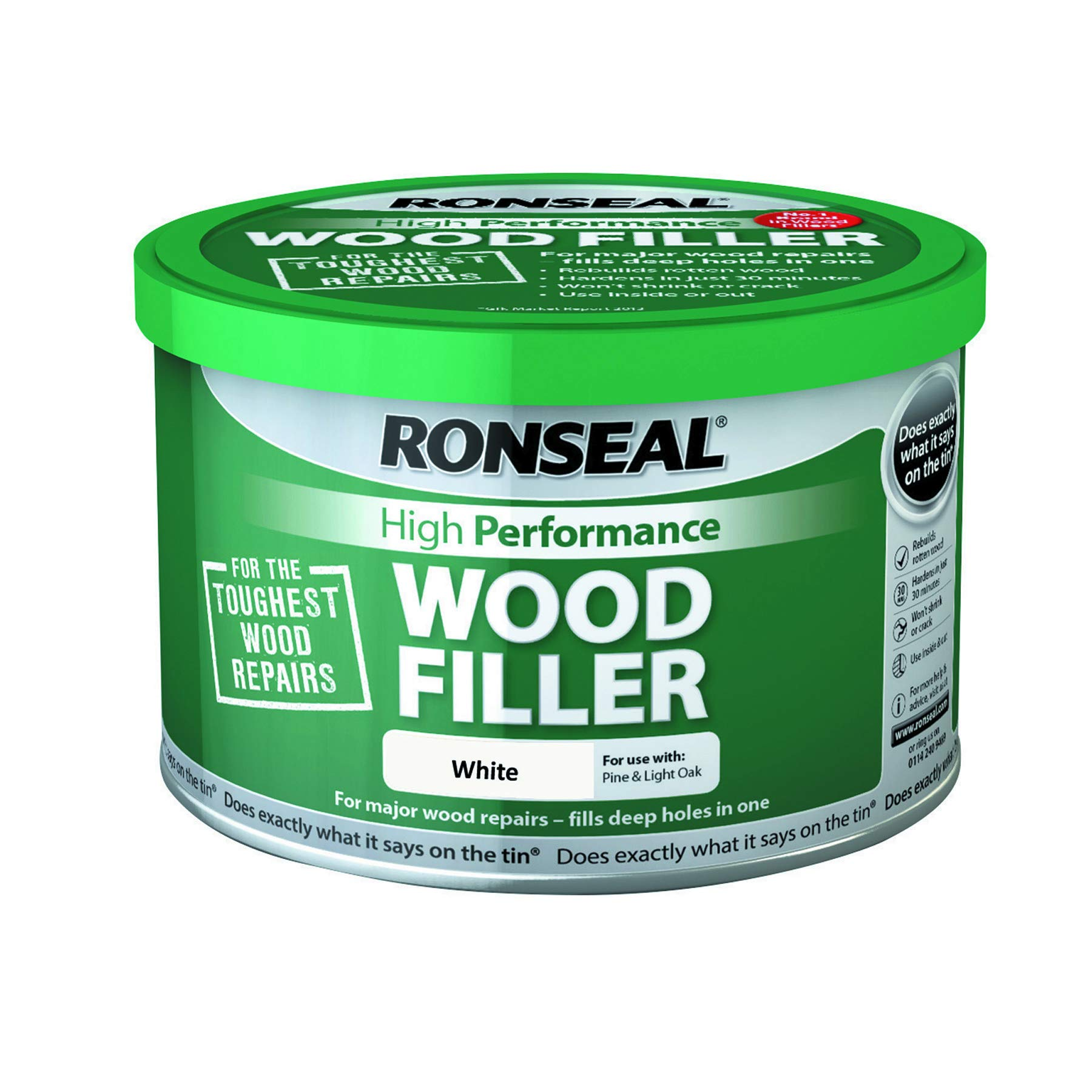 Ronseal Hpwfw275G 275G High Performance Wood Filler - White