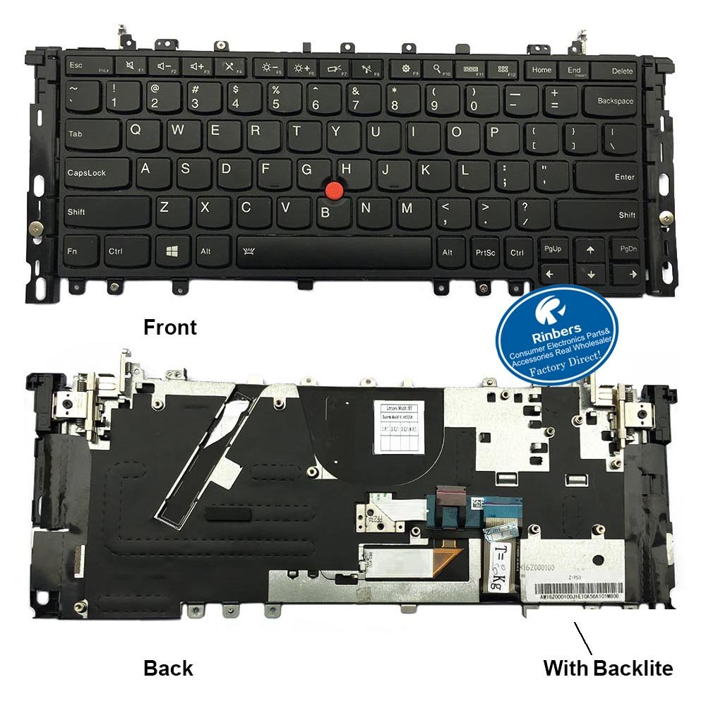 Amazon.com: Rinbers Black US Layout Laptop Keyboard with ...
