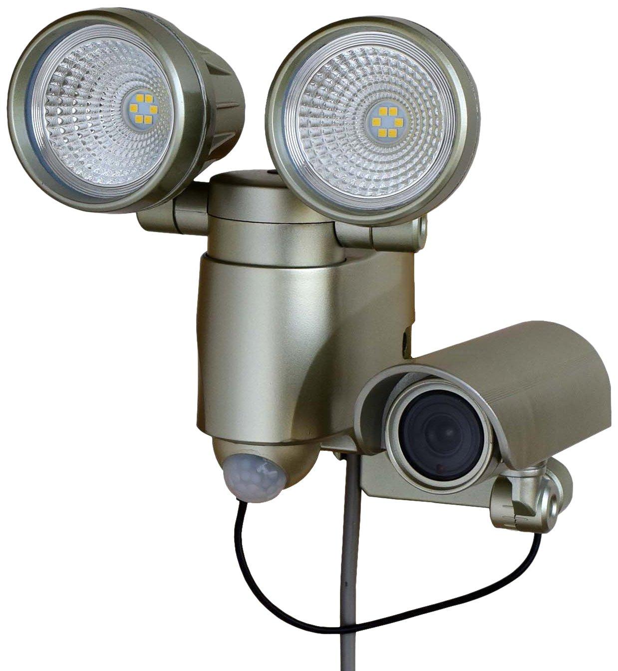 【Amazon.co.jp限定】高儀 LEDセンサーライト ダブル 6W×2 メタリックゴールド 録画機能付 防犯用品 ASLT-6MG B018FF7TG4 11848 メタリックゴールド メタリックゴールド