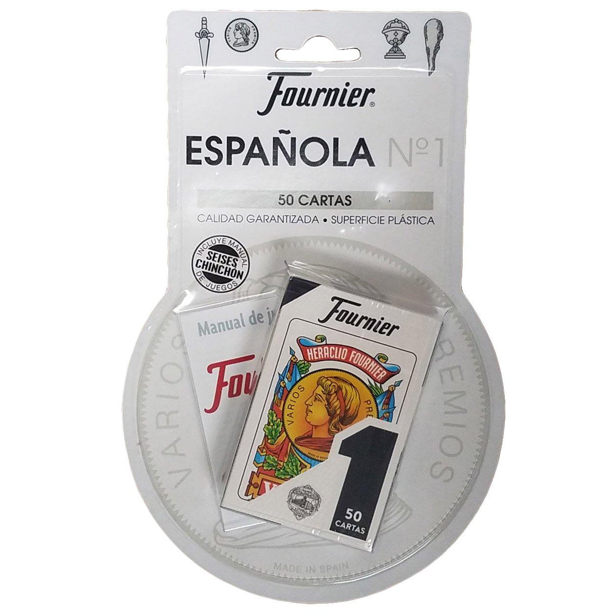 Set of 50 Fournier Spanish Playing Cards Tuck Case SeiSes - Chinchon Instructions - Baraja Española Instrucciones