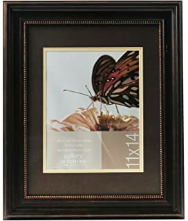 gallery solutions 11x14 distressed bronze beaded wall frame with double mat for 8x10 image 13fp1347 - Double 8x10 Picture Frame