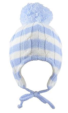 062b1c32a8a Pesci Baby Boys Bobble Hat Striped (12-18 Months