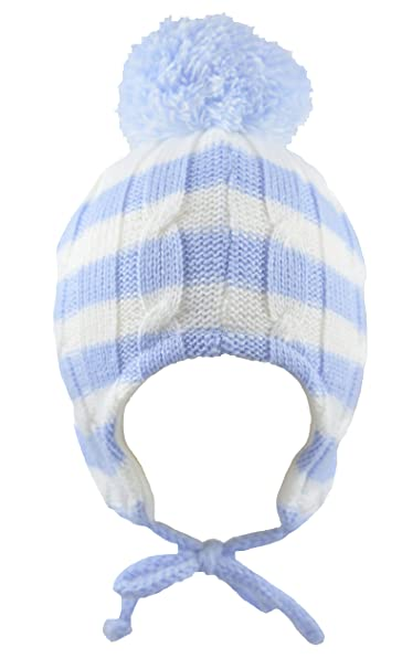 f16b4a41b05 Pesci Baby Boys Bobble Hat Striped (12-18 Months