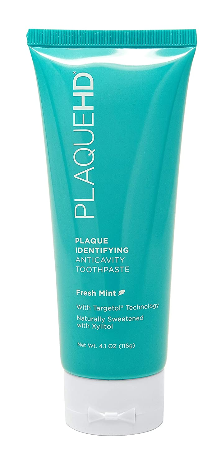 Plaque HD Plaque Identifying Toothpaste | Plaque Disclosing Mint Toothpaste with Xylitol pH Balancing Ingredients for Healthy, Fresh Minty Breath | Gently Whitens Teeth, Reduces Inflammation