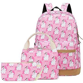 2b85fa9be3cf CAMTOP Teens Backpack for School Girls Bookbag Set Kid School Bag  (3pcs/Pink)
