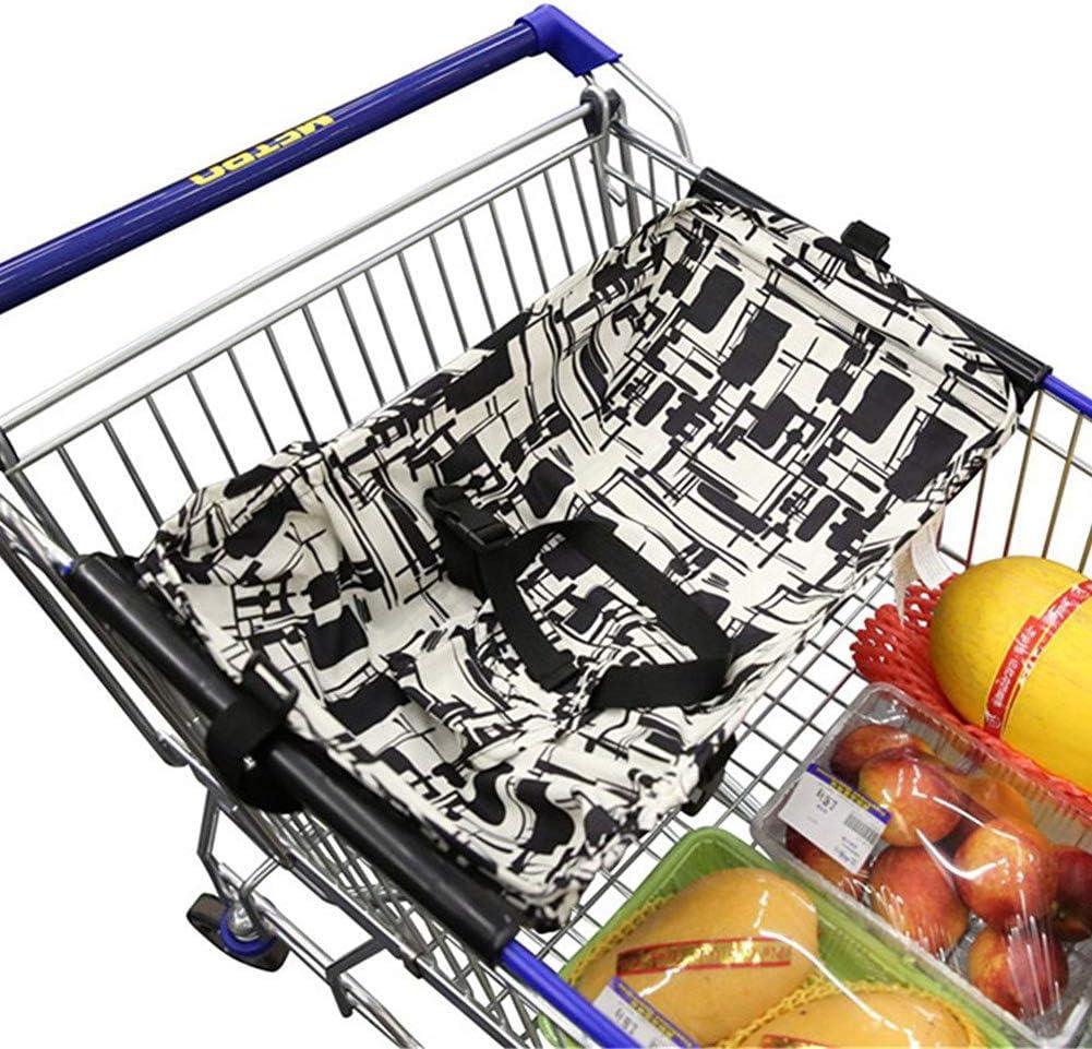 Amaca del carrello di acquisto del bambino ANSUG centri commerciali pieghevoli creativi del carrello del cuscino dellammortizzatore del letto di viaggio sicuro e portatile