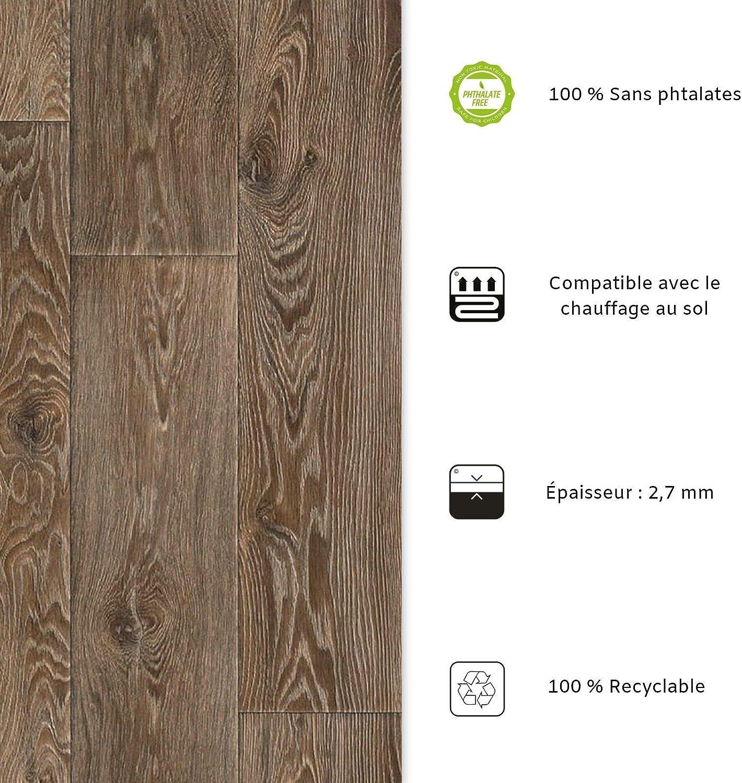 Aspect H/être - 100x500 cm Film Vinyle Pour Meuble /& Sol casa pura Rev/êtement Sol PVC Sol PVC Rouleau Antid/érapant /& 100/% /Écologique Stickers Effet Bois