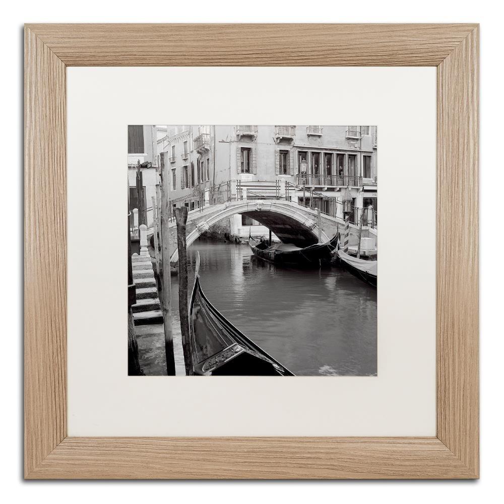 Venezia III by Alan Blaustein ,ホワイトマット、Birchフレーム16 x 16インチ   B06XYLQ7PQ