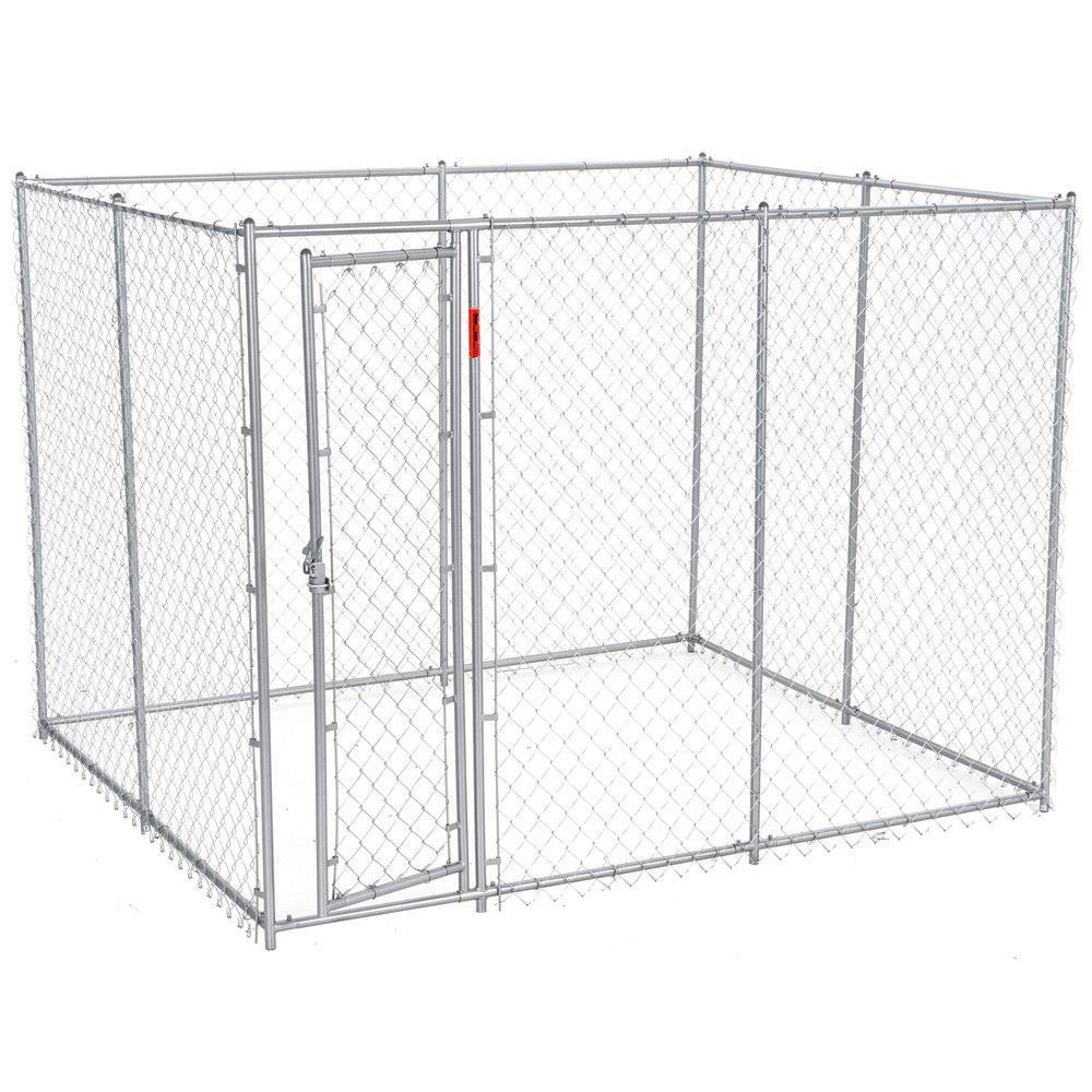 zwan 10 x 5 x 6 Foot Heavy Duty Outdoor Chain Link Dog Kennel Enclosure with Ebook