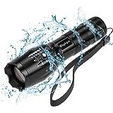 懐中電灯 LED,Wophain ハンディライト 超高輝度 ズームライト 5モード 防水 強力 1200ルーメン XML アウトドア 超強光 防災対策 SOS点滅 (1個セット)