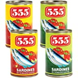555 Sardines Assorted 155gx4