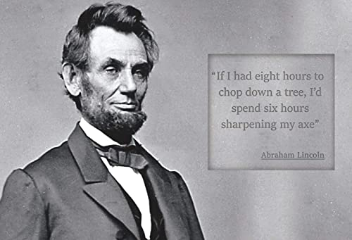 Amazon.com: Abraham Lincoln If I Had Eight Hours To Chop Down A Tree -  Motivational Poster - 13x19 Unframed - Perfect Gift Under $20: Handmade
