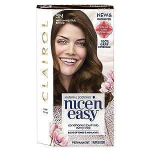 Clairol Nice'n Easy Permanent Hair Color, 5N Medium Neutral Brown, Pack of 3