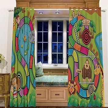 Cortina térmica opaca para ventana para sala de estar, 147 cm de ...