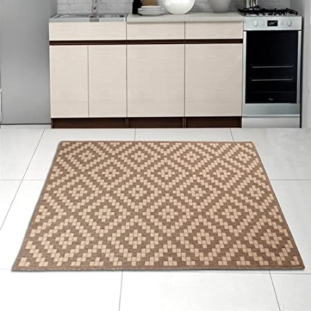Lieblich Sisal Rug Beige Brown Modern Diamond Geometric Pattern Living Room Dininng  Room Kitchen Very Durable Oeko