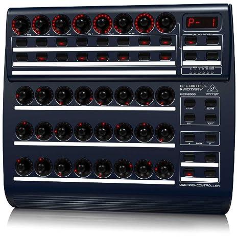 Behringer BCR2000 Total Recall USB/controlador MIDI turística con 32 Iluminado Encoders