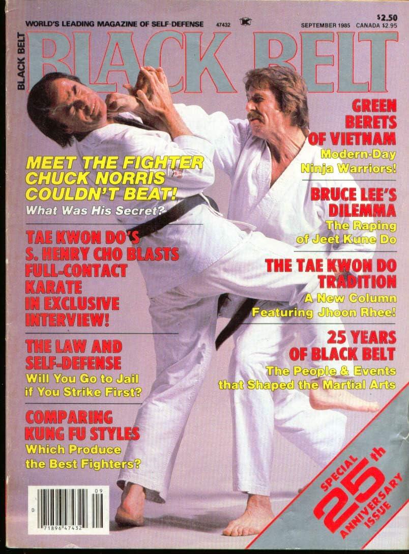 BLACK BELT Chuck Norris Tony Tulleners Henry Cho Bruce Lee ...