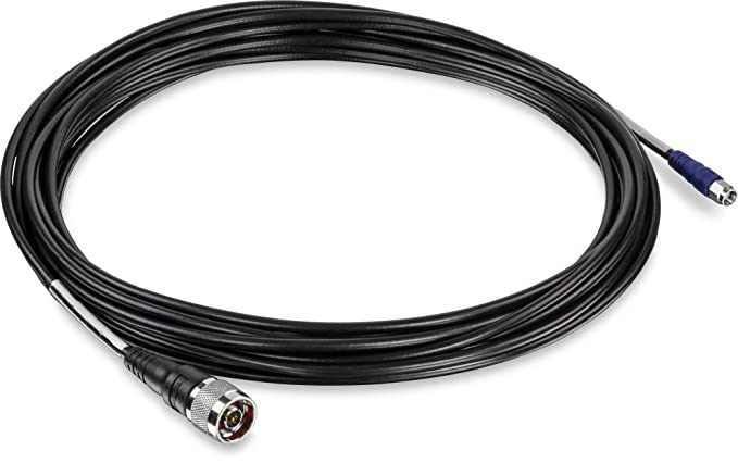 Trendnet LMR200 Reverse SMA - N-Type Cable 8m Negro - Cable de red (8 m, Negro): Trendnet: Amazon.es: Informática