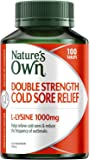 Nature's Own Double Strength Cold Sore Relief L-Lysine 1000mg - Relief from Cold Sores - Reduce Outbreaks, 100 Tablets