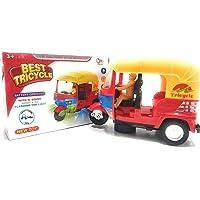 FunBlast Auto Rickshaw Toys – Bump & Go Auto Rickshaw Toy with Sound & Flashing Light | Auto Rickshaw Toys for Kids|Boys|Girls