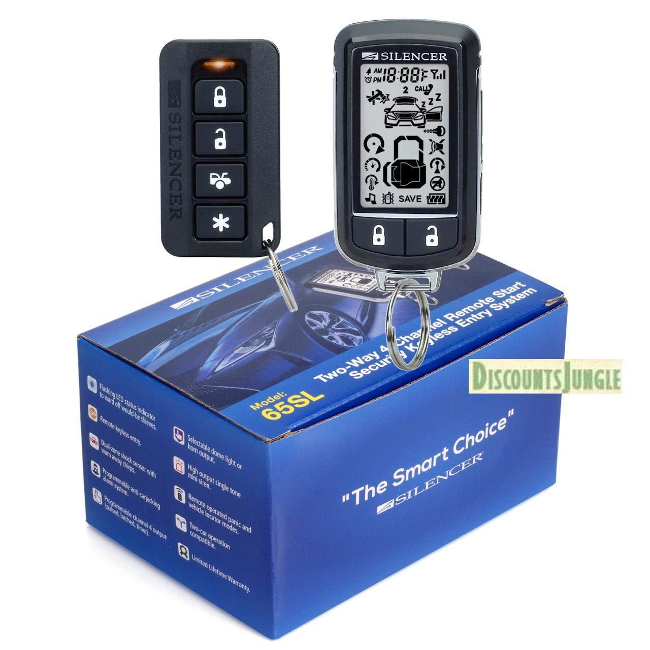 Silencer SILENCER 65SL Long Range Two-Way 4- Channel Remote Start & Full CAR Alarm System by Silencer