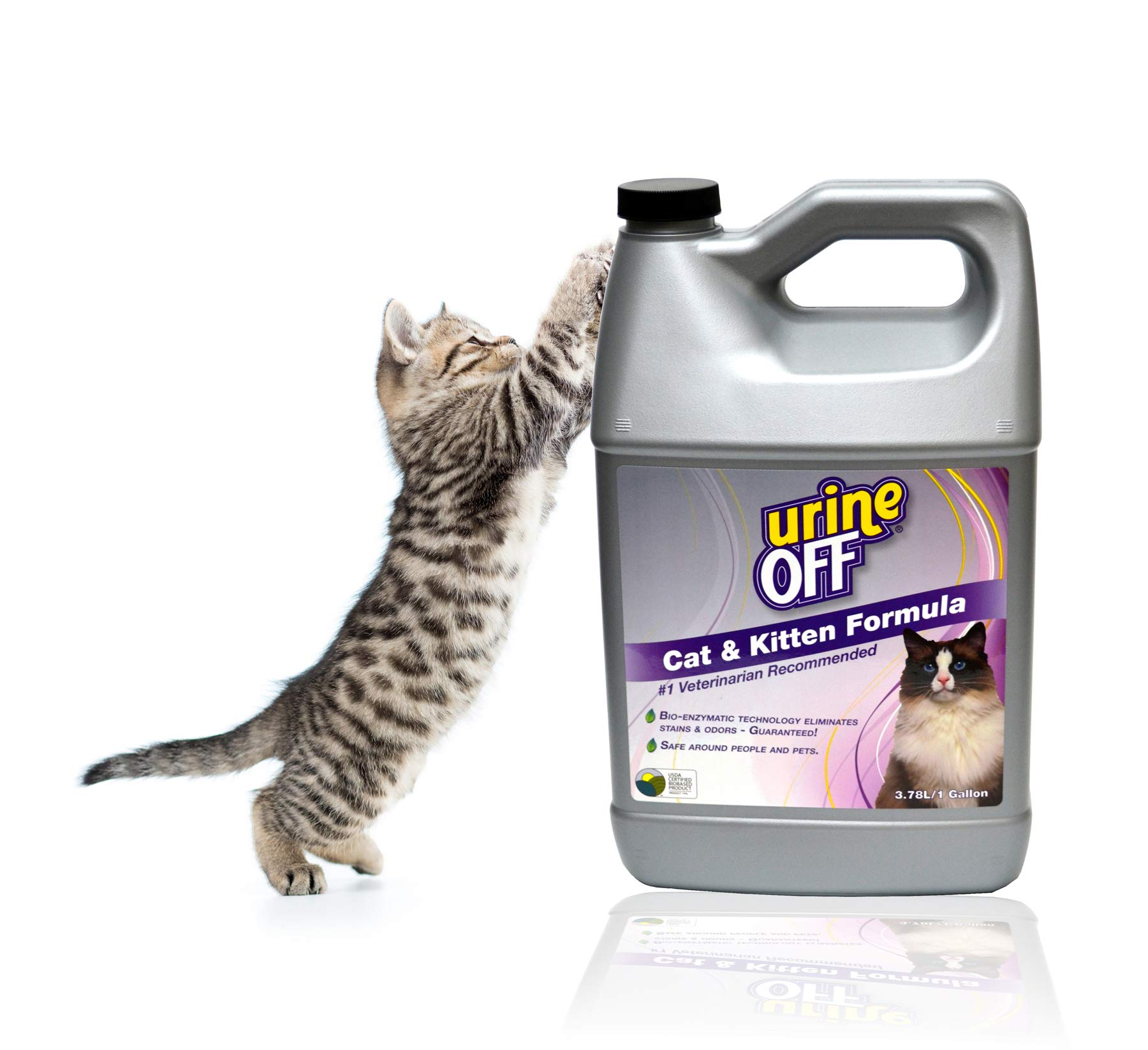 Urine Off Odor and Stain Remover for Cats, 1 Gallon by urineOFF