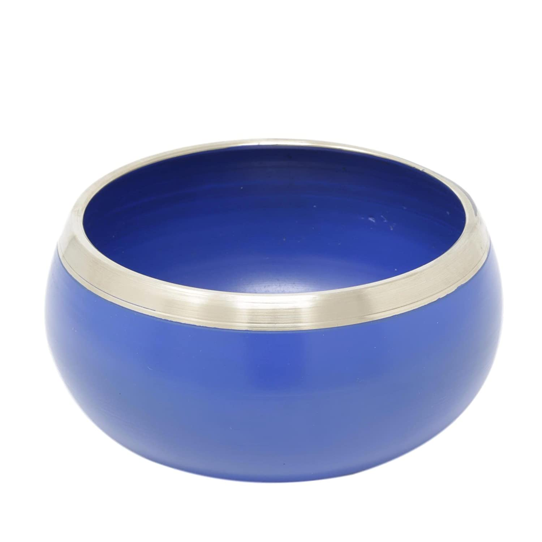 Ideal for Meditations 5 Inches ShalinIndia Vishuddha Blue Buddhist Singing Bowl Fine Quality Brass Ayurveda /& Yoga Tuned to the 5th Chakra Throat Chakra