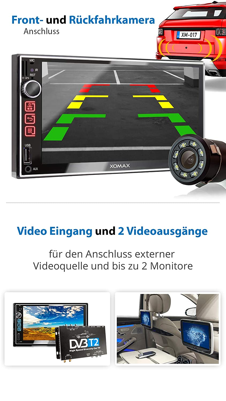 navigatore GPS SD 2 DIN AUX schermo touch screen 7 pollici // 18 cm XOMAX XM-2VN752 Autoradio con mirrorlink USB vivavoce bluetooth FM tuner
