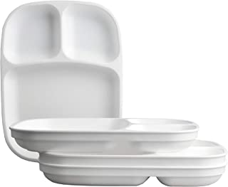product image for Re-Play Made in USA 4pk White Large Sandwich Divided Plates with Deep Sides and Three Compartments Great for Outdoor, Camping, Party, Tailgating or Everyday Dining