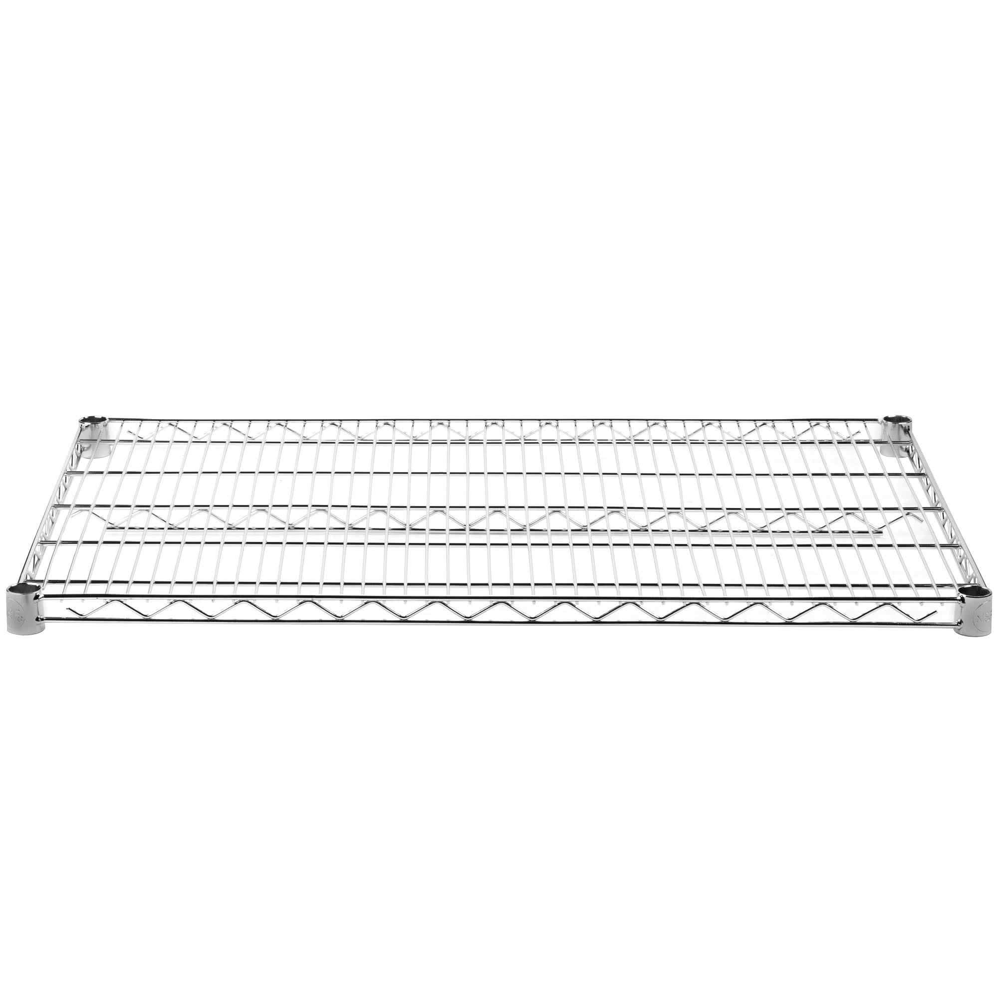 Commercial Chrome Wire Shelving 24 x 42 - NSF (2 Shelves) by L and J (Image #4)