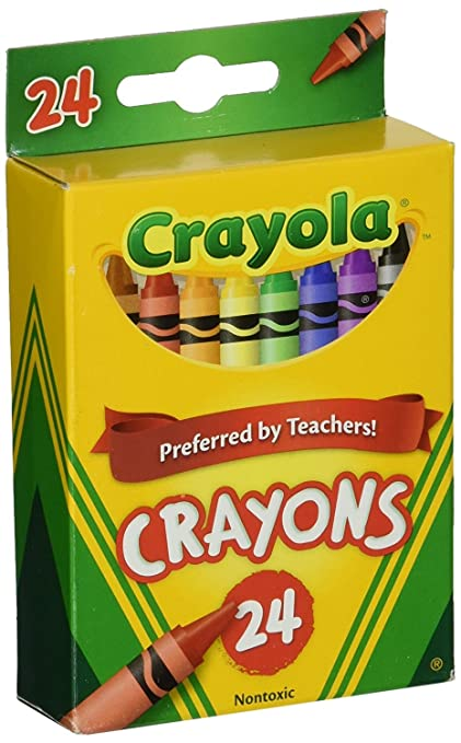 amazon com crayola 24 count box of crayons non toxic color coloring