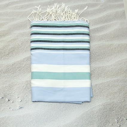 Hawaii azul 100% algodón Fouta toalla de baño, 100 cm x 200 cm, probablemente la ...